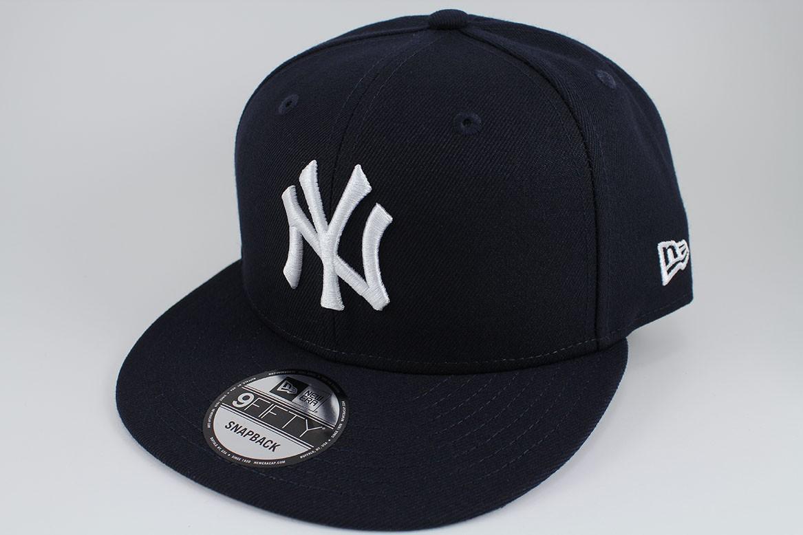5fd36c512ba NEW ERA 9FIFTY BASIC SNAPBACK HAT CAP MLB NEW YORK NY YANKEES NAVY ...