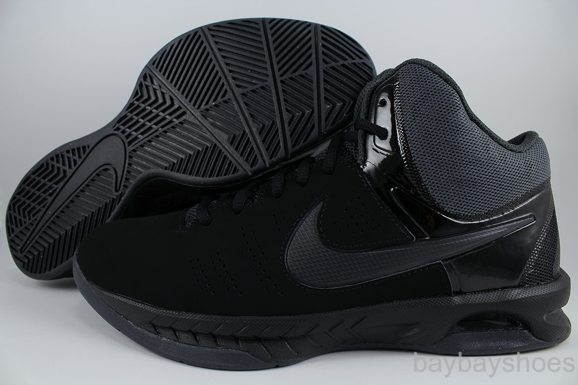 b0940934254 Nike Men s Air Visi Pro VI Black Mtlc Platinum Dark Grey Basketball Shoe 7.5