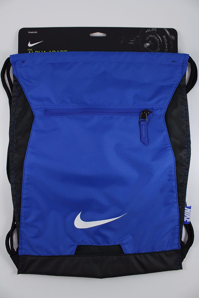 eb4f4efc2705 NIKE ALPHA ADAPT GYMSACK ROYAL BLUE BLK DRAWSTRING BAG BACKPACK GYM ...