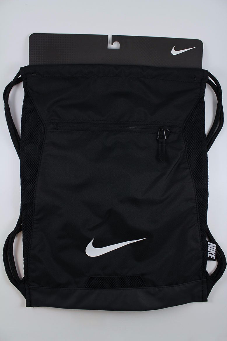 f49087be99dd NIKE ALPHA ADAPT GYMSACK BLACK WHITE DRAWSTRING BAG BACKPACK GYM ...