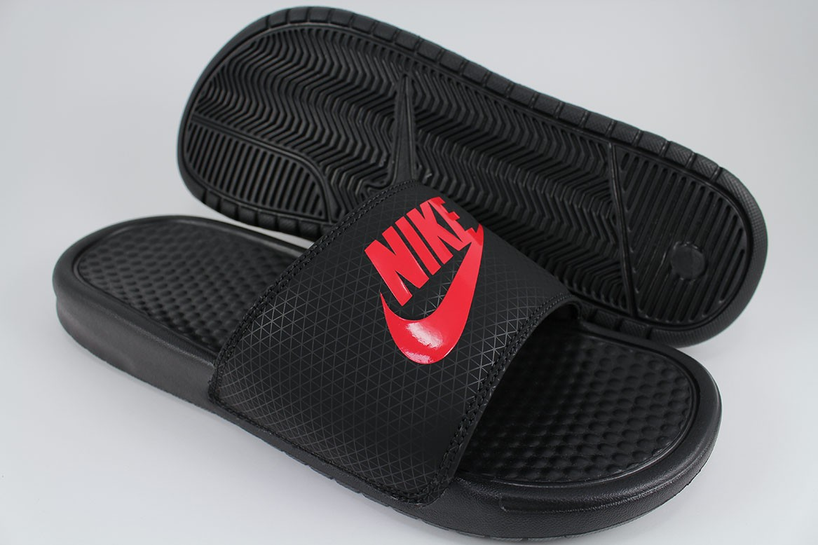 the latest d6a7c f85a0 Brand, Nike. Style Name, Benassi JDI. Style  , 343880-060. Colorway, Black Challenge  Red. Gender, Men. Type, Sport Sandals