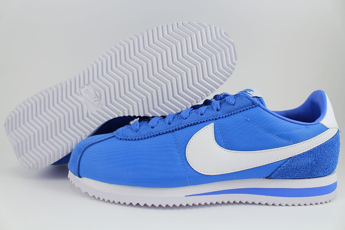 the best attitude 58e80 5ada0 Details about NIKE CORTEZ BASIC NYLON SIGNAL BLUE WHITE ROYAL CLASSIC  RUNNING US MENS SIZES