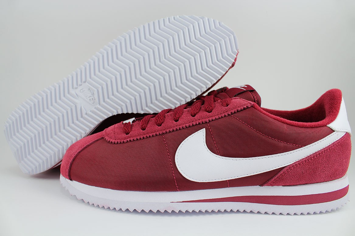 Details about NIKE CORTEZ BASIC NYLON TEAM RED/WHITE BURGUNDY CLASSIC  RUNNING US MENS SIZES
