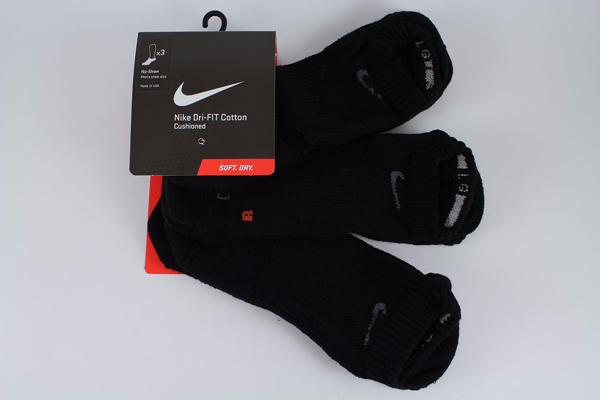 d5064afc34dd68 NIKE DRI-FIT HALF CUSHION NO-SHOW SOCKS 3-PACK BLACK/GRAY US MENS ...