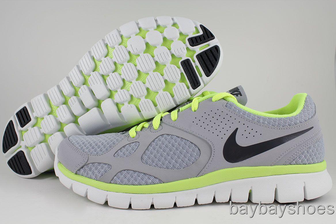 39449b1f2b0b7 Nike Flex 2012 Run Wolf Gray Anthracite Volt Neon Yellow White Free