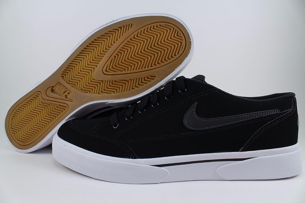 competitive price cdfb2 c021d Details about NIKE GTS  16 NUBUCK SMOOTH LEATHER BLACK GRAY GUM WHITE SKATE  SB US MENS SIZES