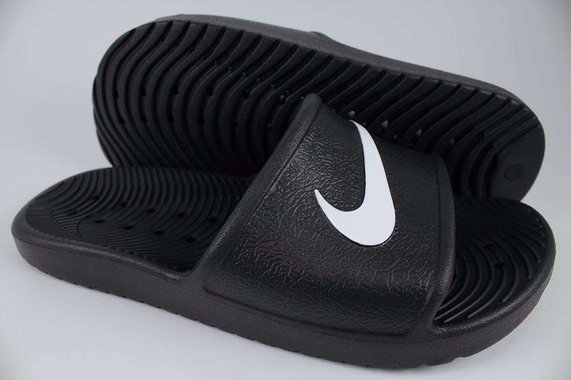 9a8bbc97d NIKE KAWA SHOWER BLACK WHITE WATERPROOF SPORT SANDALS SLIDES SWOOSH ...