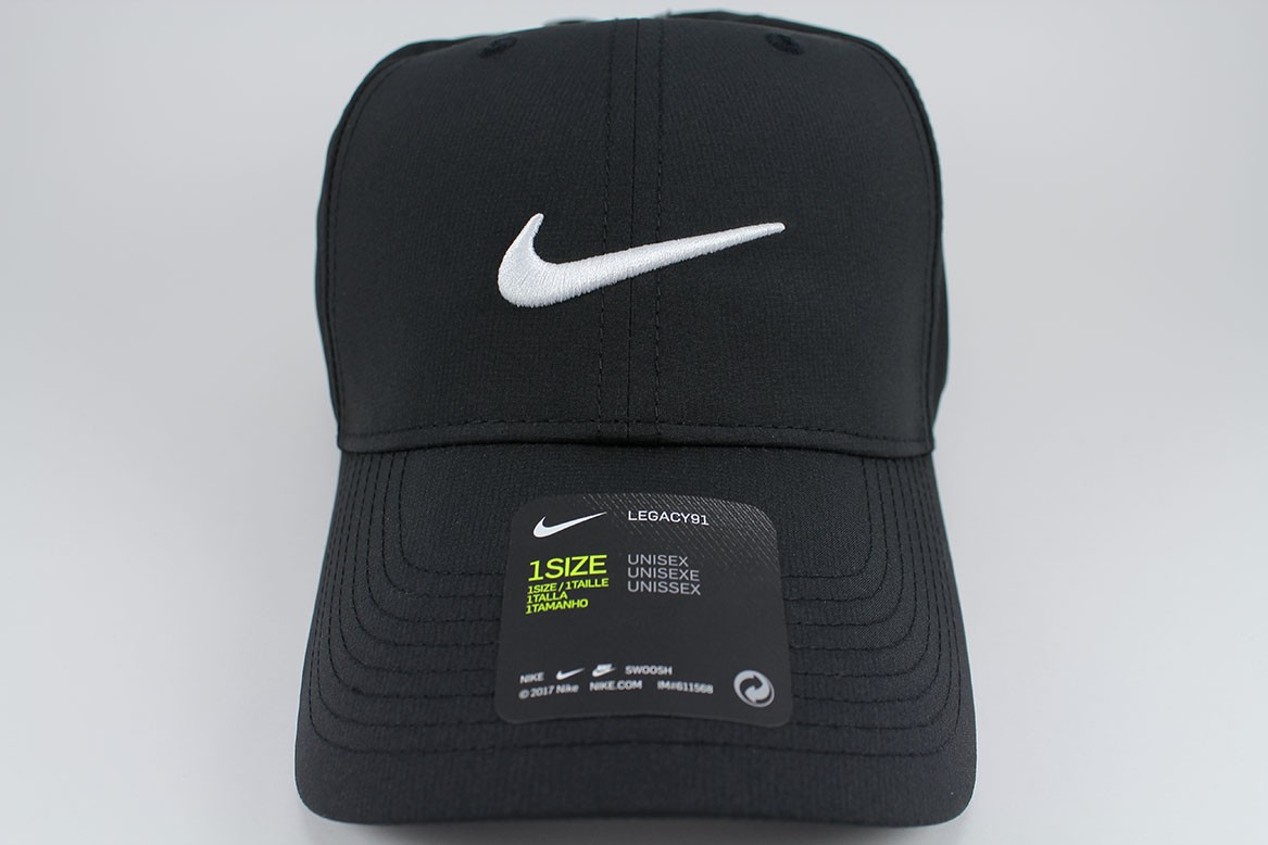 671bc25f83f80 Details about NIKE LEGACY 91 DRI-FIT ADJUST CAP HAT BLACK WHITE GOLF  TRAINING SWOOSH ADULT NEW