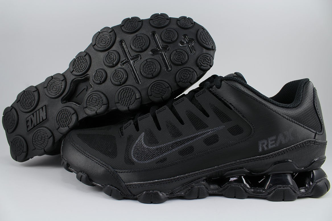 91c7d3cd60 NIKE REAX 8 TR MESH TRIPLE BLACK/BLACK/ANTHRACITE GRAY CROSS-TRAINER ...