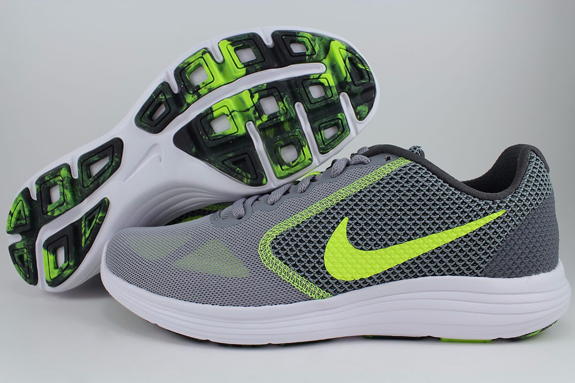 b6cc5c144f62 Details about NIKE REVOLUTION 3 STEALTH GRAY/VOLT YELLOW/ANTHRACITE/WHITE  RUNNING US MEN SIZES