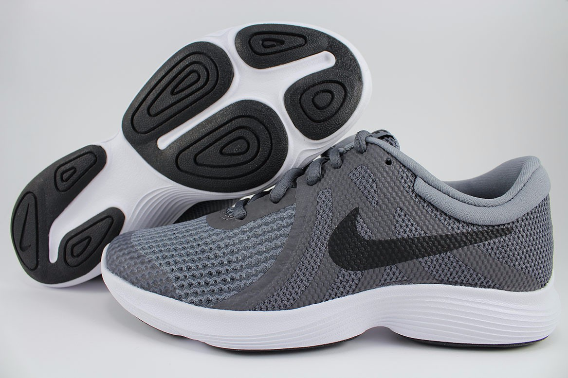 92aa25fe08ce Details about NIKE REVOLUTION 4 GS DARK GRAY BLACK WHITE RUNNING BOYS GIRLS  KIDS US YOUTH SIZE