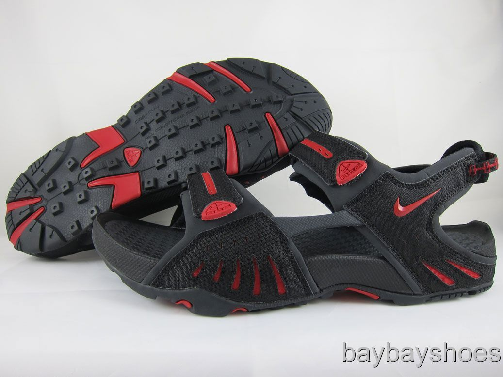 78e484b4eb18 NIKE SANTIAM 4 BLACK RED ACG SPORT SANDALS MEN ALL SIZE on PopScreen