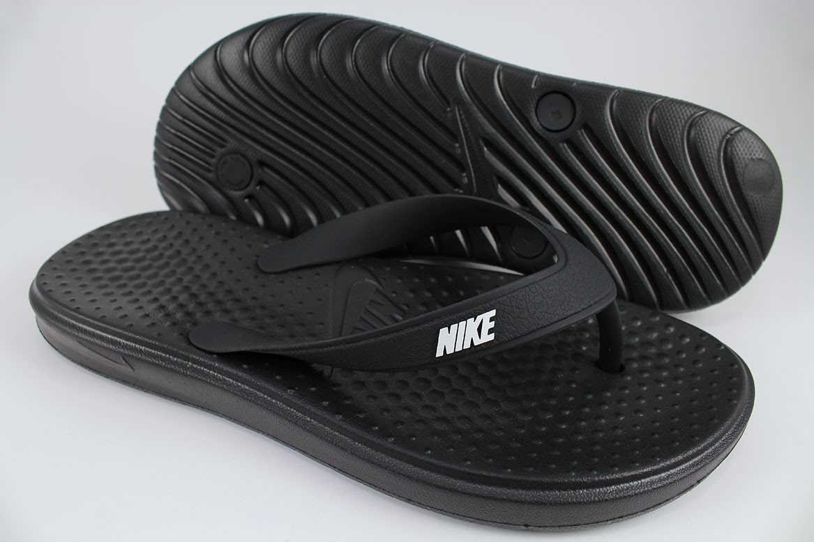 4d84f105428925 NIKE SOLAY THONG BLACK WHITE FLIP FLOPS SANDALS SLIDES WATER BEACH ...