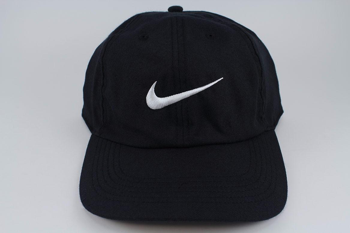 db3d8840be721 NIKE TWILL HERITAGE 86 DRI-FIT ADJUSTABLE CAP HAT BLACK WHITE ...