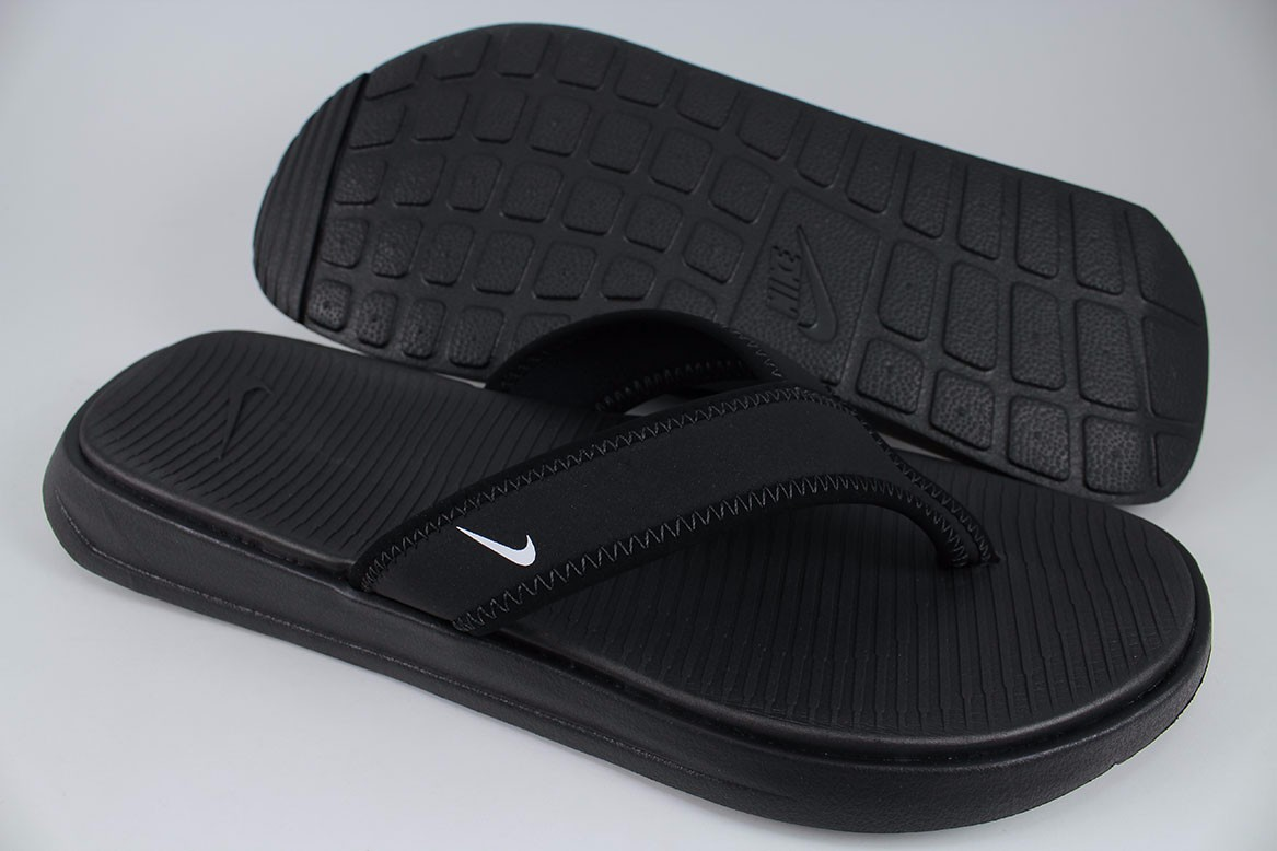 52e964b2952 NIKE ULTRA CELSO THONG BLACK WHITE FLIP FLOPS SANDALS SLIDES PLUS US ...