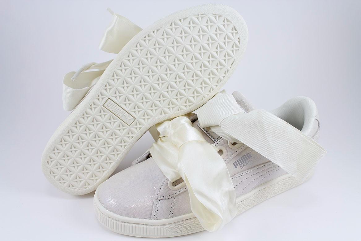 Puma Basket Herz NS Triple White Sparkle Satin Rihanna irisierende uns Frauen Größe | eBay