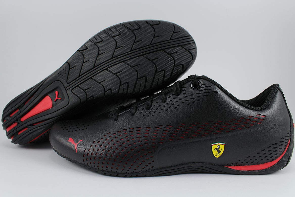 0b79f2f9c Details about PUMA SF DRIFT CAT 5 ULTRA II 2 BLACK ROSSO CORSA RED FERRARI  F1 RACING MEN SIZES