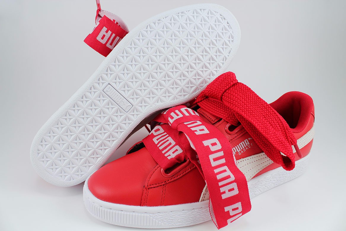 competitive price bf5c0 ea1d0 PUMA BASKET HEART DE TOREADOR RED/WHITE RIHANNA FASHION ...