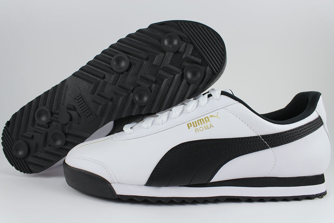 c03e334a Details about PUMA ROMA BASIC WHITE/BLACK/GOLD CASUAL TRAINERS CLASSIC  353572-04 US MENS SIZES