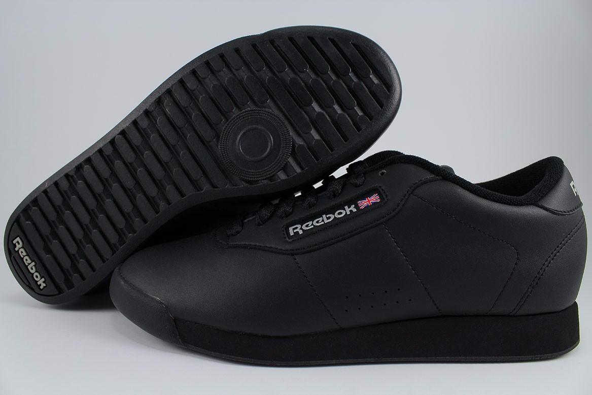 922e1562713 REEBOK PRINCESS WIDE WIDTH D TRIPLE BLACK CLASSIC WALKING CASUAL US ...