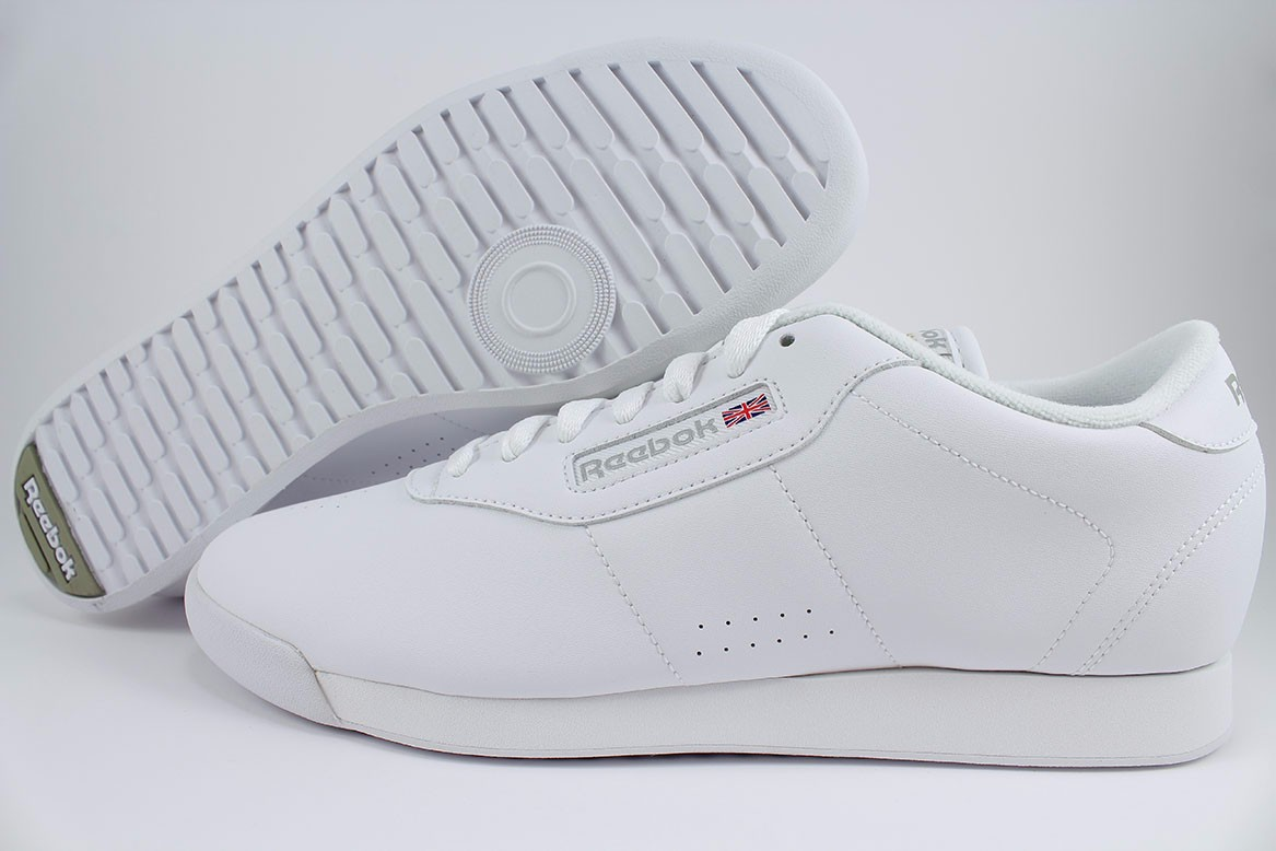 1f36239f5b4 Details about REEBOK PRINCESS MEDIUM TRIPLE WHITE MONO WALKING CASUAL CLASSIC  US WOMENS SIZES