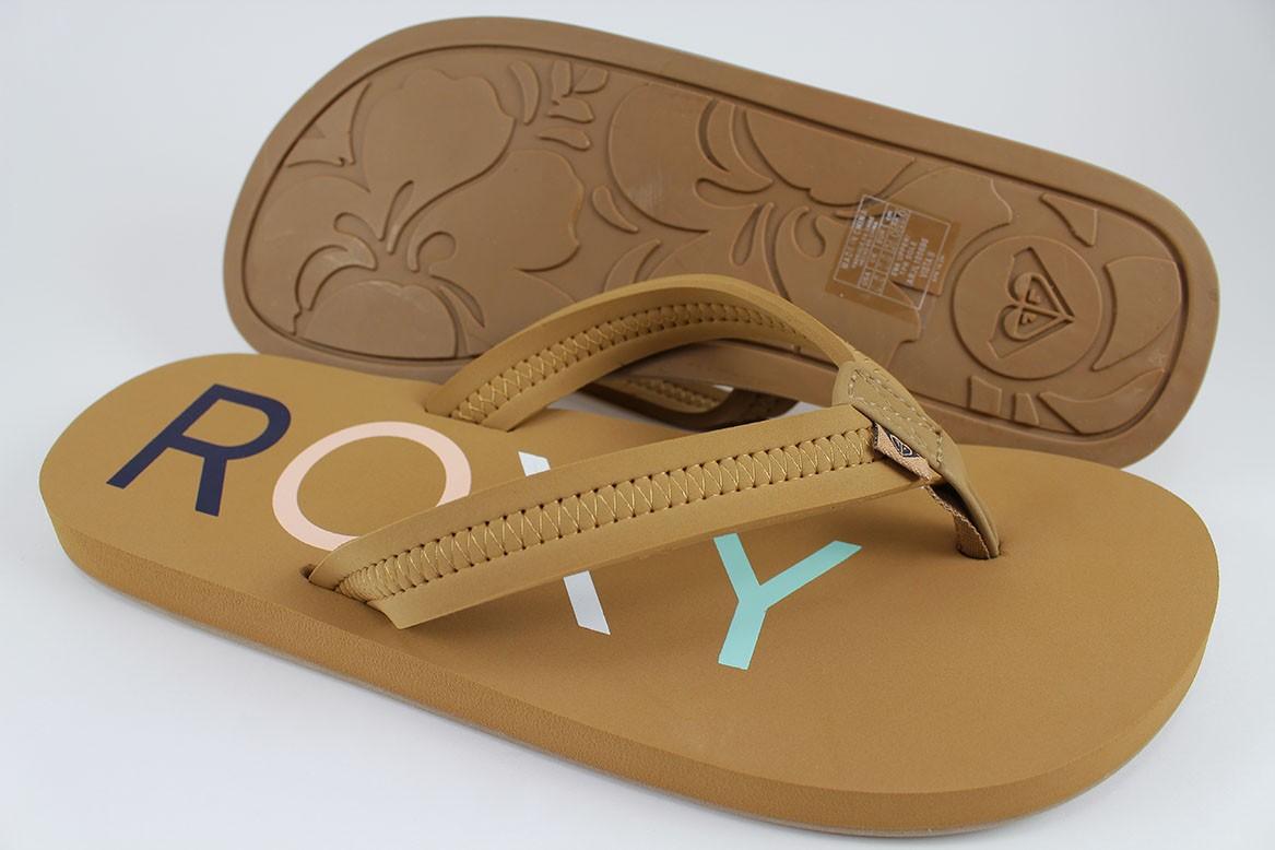 20890c288ac181 Roxy vista ii tan brown flip flops thong sandals waterproof beach jpg  1167x778 Roxy flip flops