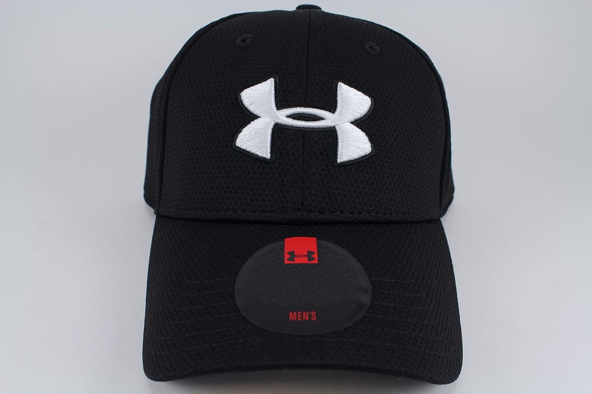 a4dac6ea06035 UA UNDER ARMOUR BLITZING II STRETCH FIT HAT CAP BLACK WHITE ...