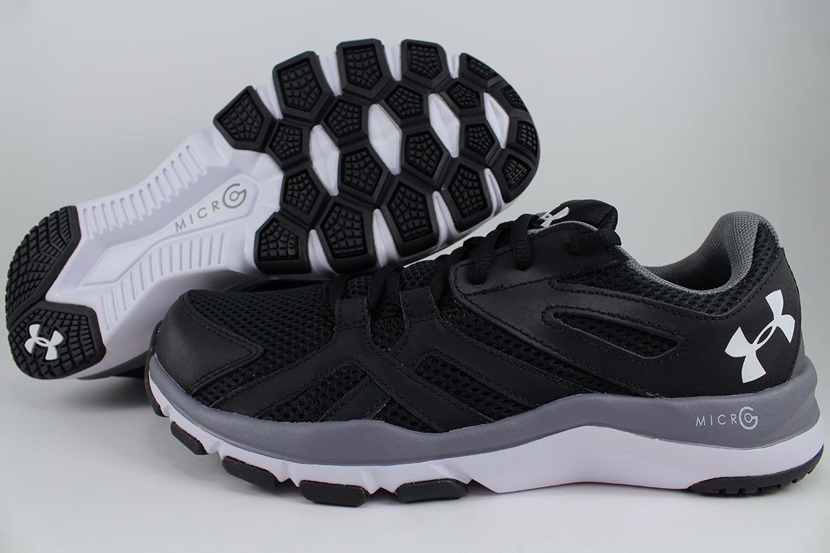 best service 6ca5d ceb7e Details about UNDER ARMOUR UA STRIVE 6 EXTRA WIDE 4E EEEE BLACK GRAY WHITE  TRAINER MEN SIZES