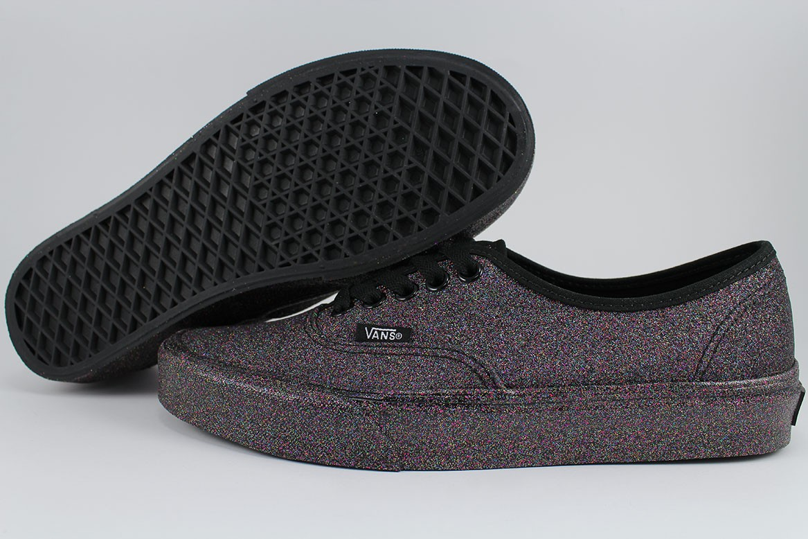 f1fd883ecd VANS AUTHENTIC RAINBOW GLITTER TRIPLE BLACK MULTI-COLOR SPARKLE ...