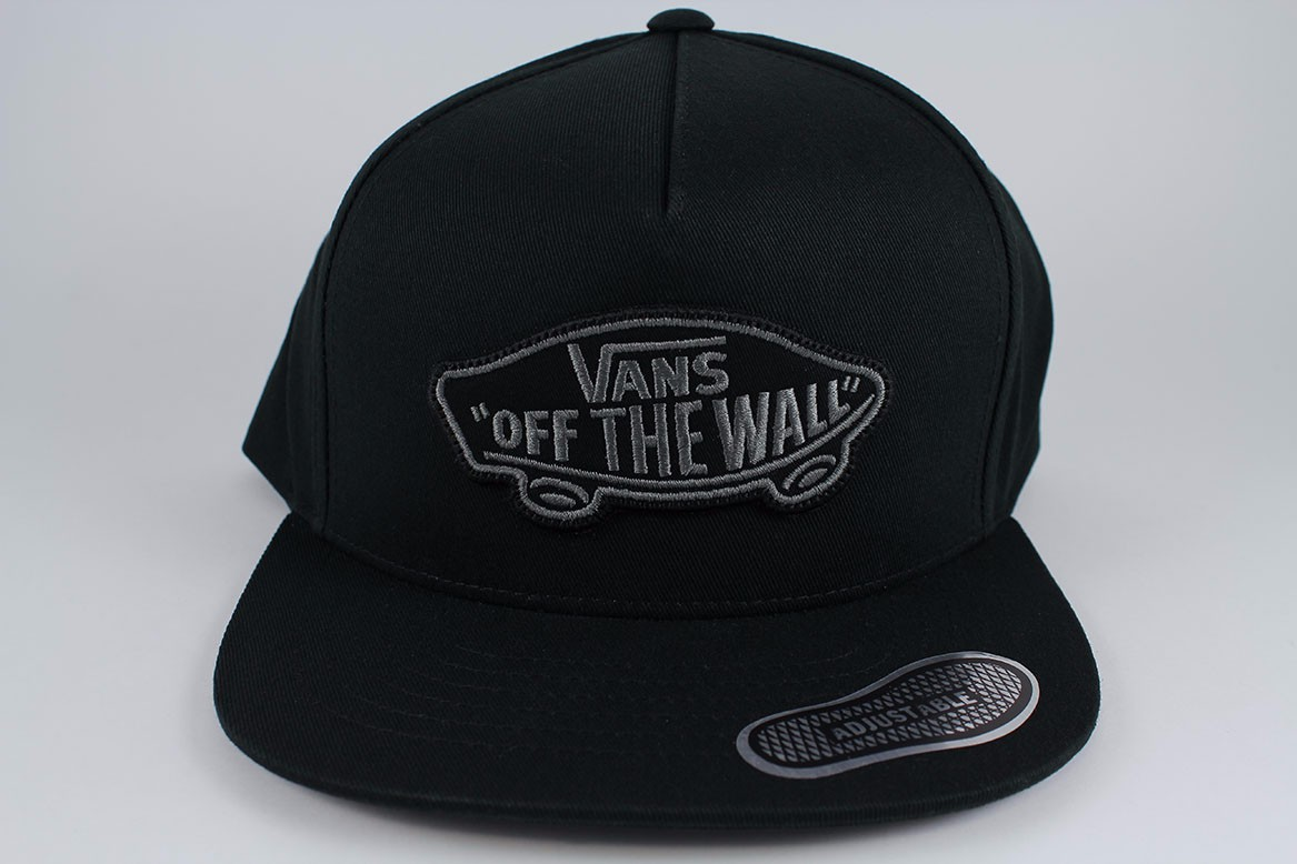 6d4abf490cf VANS CLASSIC PATCH SNAPBACK HAT ADJUSTABLE CAP BLACK GRAY ADULT OFF ...