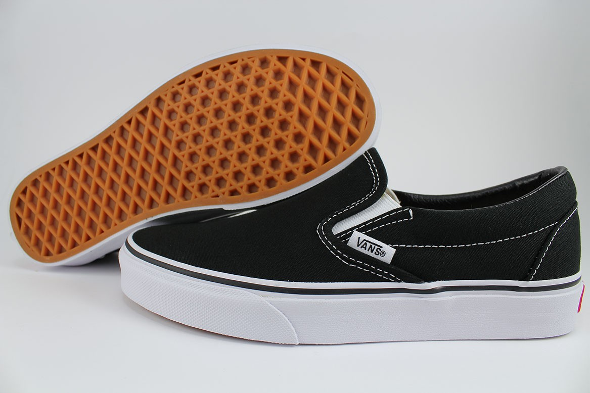 e814598234 Details about VANS CLASSIC SLIP-ON BLACK WHITE LOAFERS SLIDES SKATE  AUTHENTIC 0EYEBLK MEN SIZE