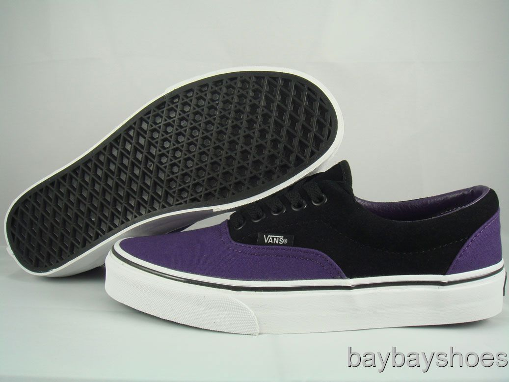 b3270073525a VANS ERA GRAPE PURPLE BLACK CLASSIC SKATE MEN ALL SIZES on PopScreen