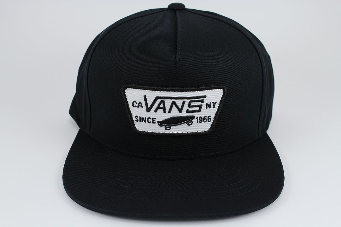 9a895e3949e Details about VANS FULL PATCH SNAPBACK HAT ADJUSTABLE CAP BLACK WHITE  SKATEBOARD ADULT MEN NEW