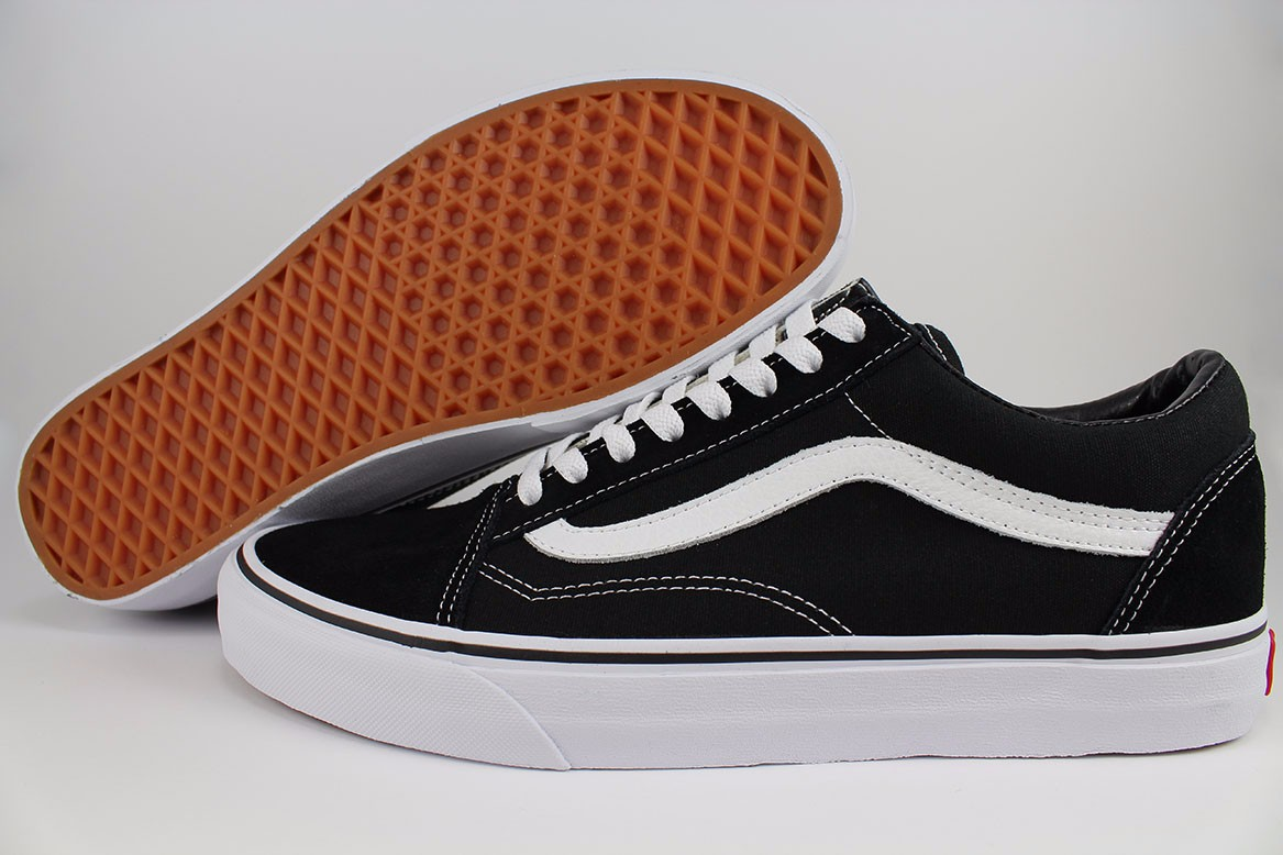 Details about VANS OLD SKOOL BLACK/WHITE LOW SUEDE CANVAS CLASSIC SKATE SK8 US MENS SIZES