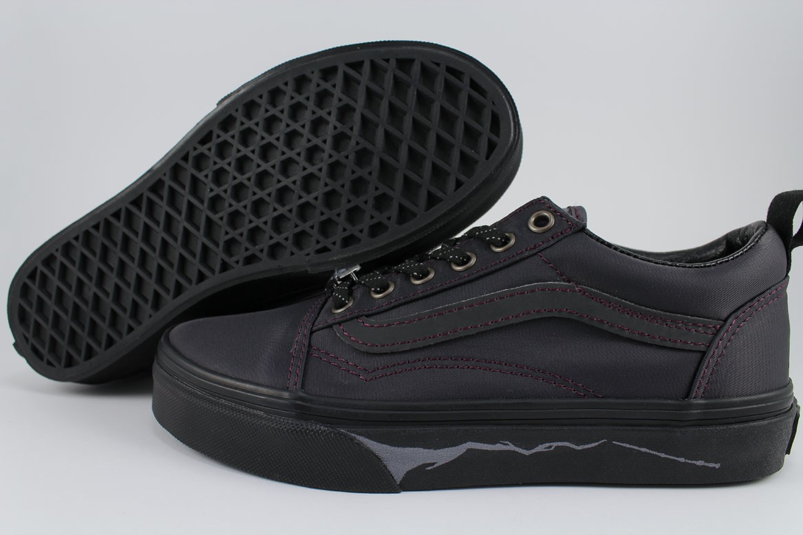 Details about VANS OLD SKOOL ELASTIC LACES HARRY POTTER DEATHLY HALLOWS BLACK SLIP ON YOUTH SZ