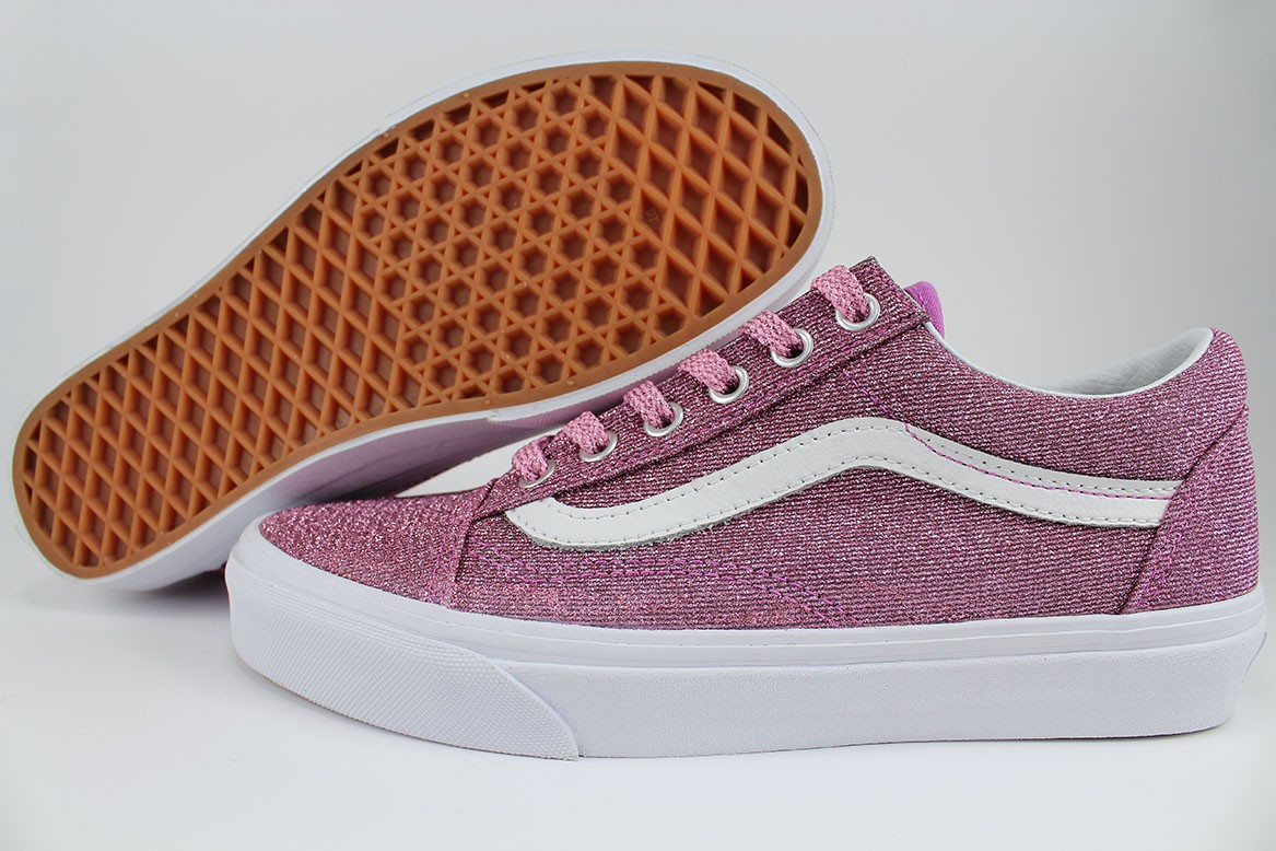 8886156acf Details about VANS OLD SKOOL LUREX GLITTER PINK TRUE WHITE SPARKLE CLASSIC  SKATE US WOMEN SIZE