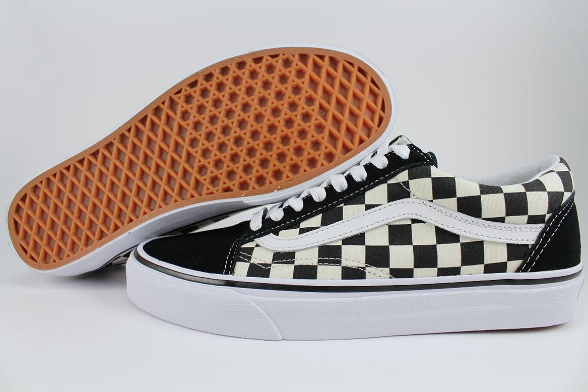 0e2bebbf0a Details about VANS OLD SKOOL PRIMARY CHECKERBOARD BLACK OFF WHITE CHECK SKATE  SK8 US MEN SIZES