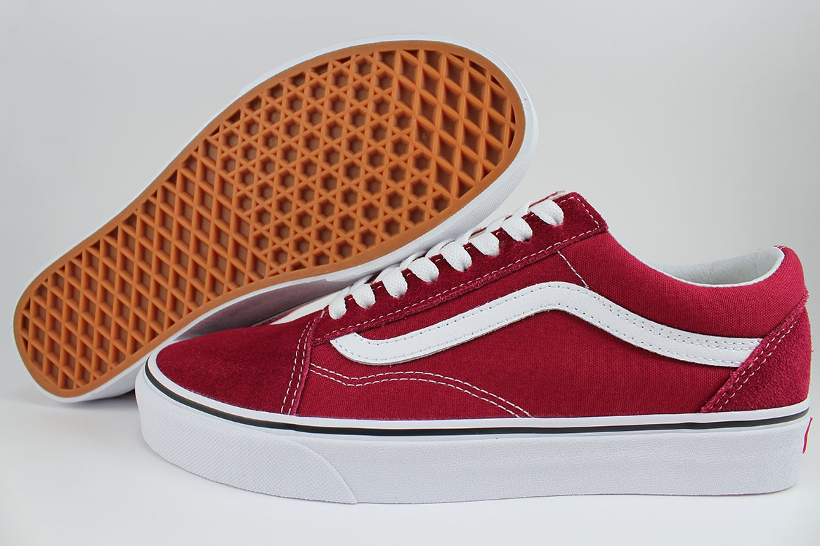 Details about VANS OLD SKOOL RUMBA RED WHITE BURGUNDY MAROON CANVAS SUEDE  US MEN WOMEN SIZES 43ae05799