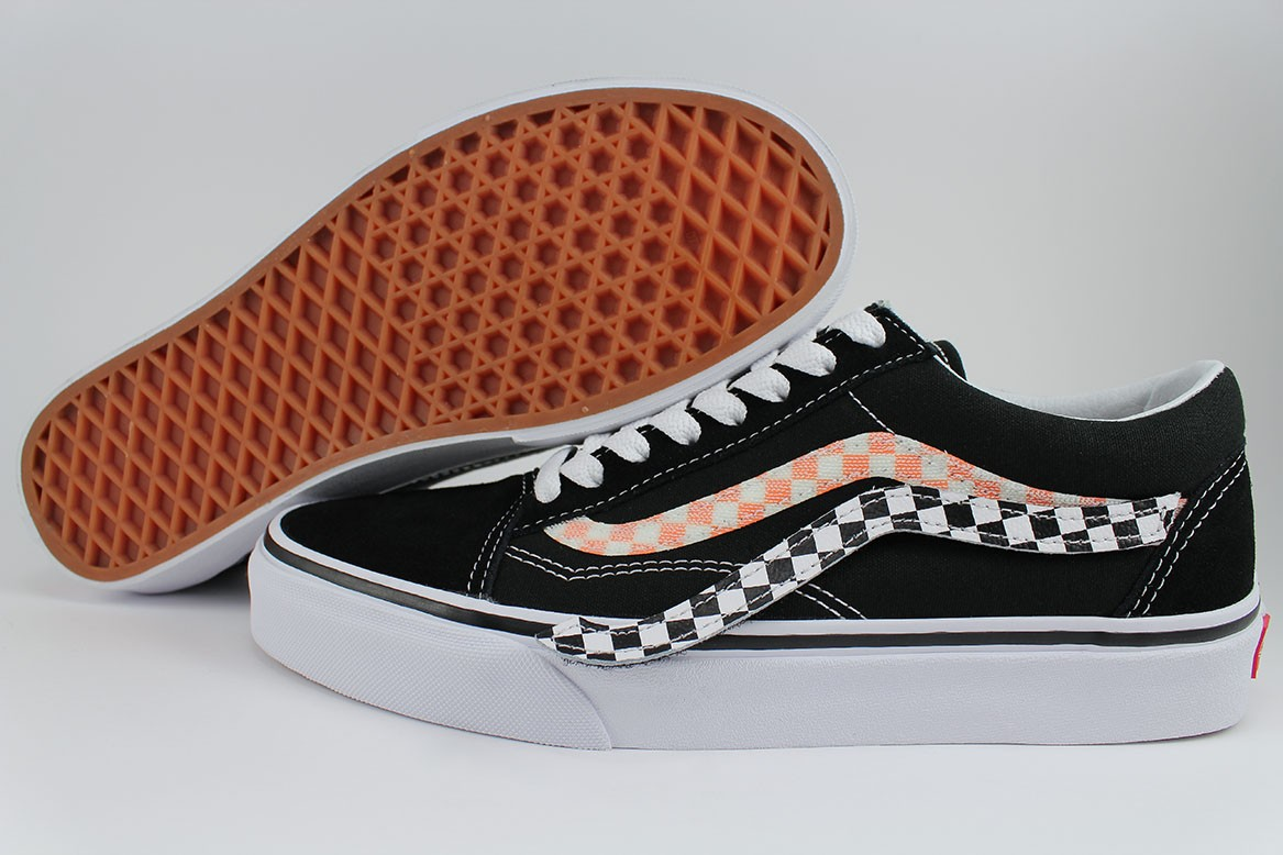 429946c0a1 Details about VANS OLD SKOOL REMOVABLE SIDESTRIPE V BLACK WHITE RED CHECKER US  MEN WOMEN SIZES