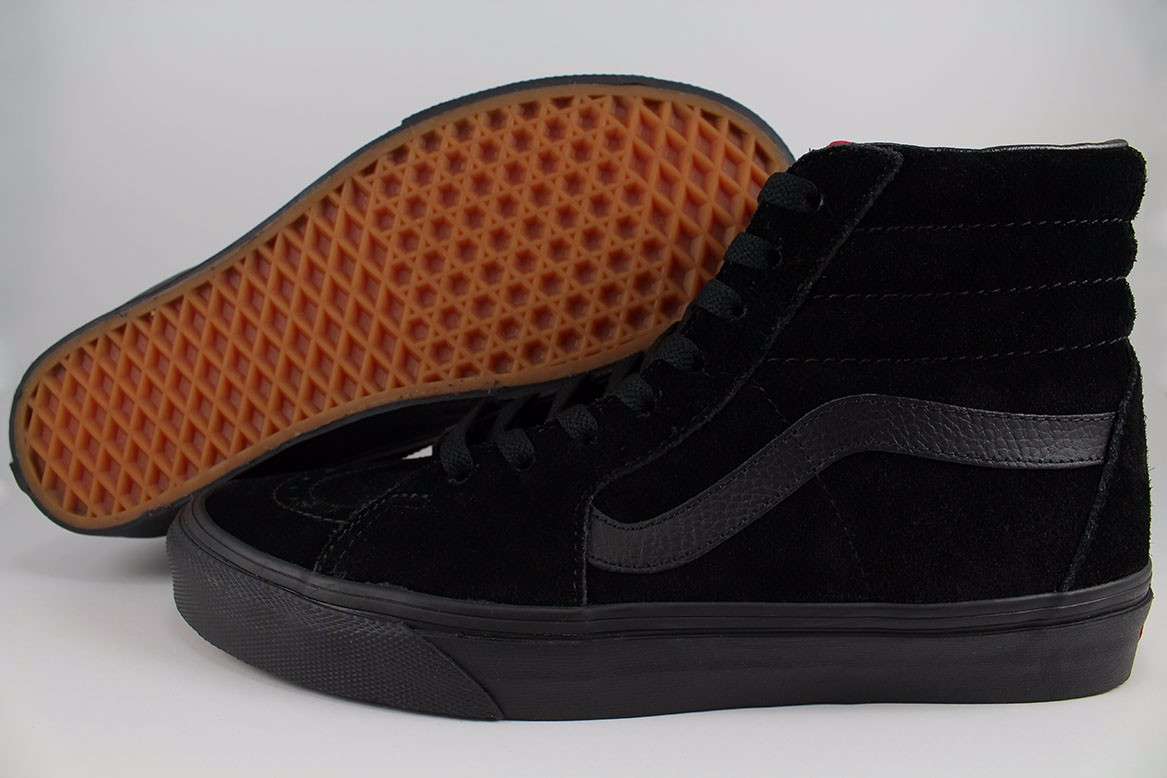bf02a8a5ed Details about VANS SK8-HI HIGH TRIPLE BLACK BLACK BLACKOUT ALL SUEDE  CLASSIC SKATE US MEN SIZE