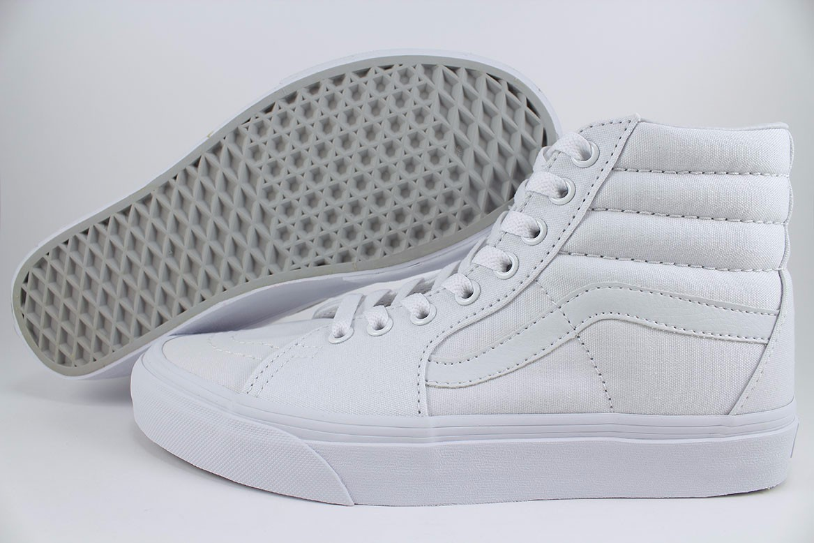 Details about VANS SK8-HI TRIPLE TRUE WHITE MONO SKATE HIGH CLASSIC ALL  CANVAS US MENS SIZES cf74f3624