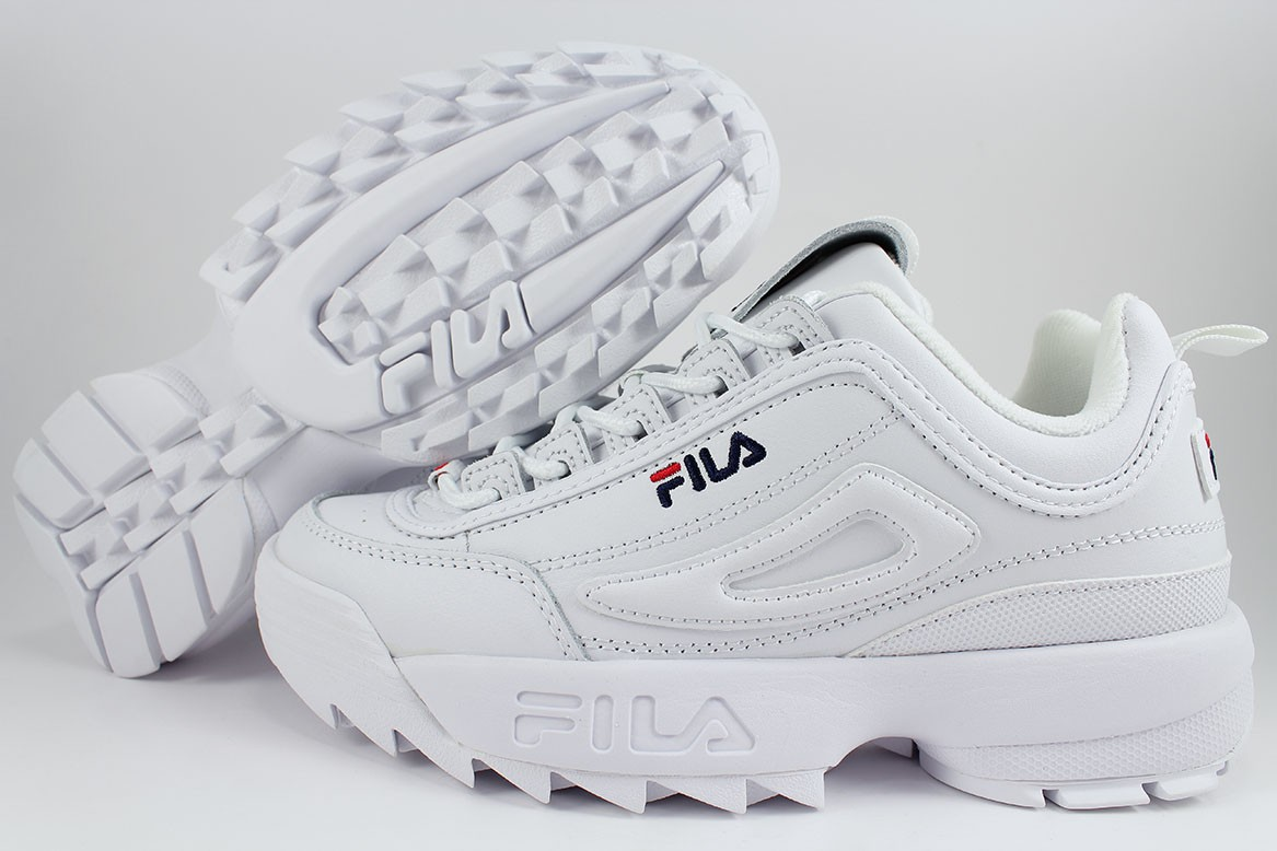 a613ef0cc3cc FILA DISRUPTOR II 2 PREMIUM WHITE NAVY BLUE RED CROSS-TRAINING ...