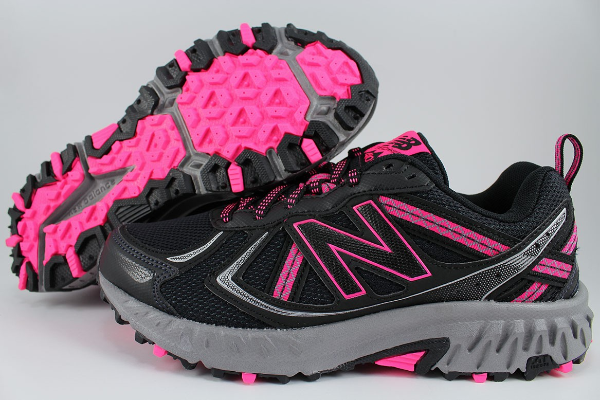 501c1c9bd6b576 Details about NEW BALANCE 410 WIDE BLACK/PINK/GRAY/SILVER WT410LB5 TRAIL RUNNING  HIKING WOMEN