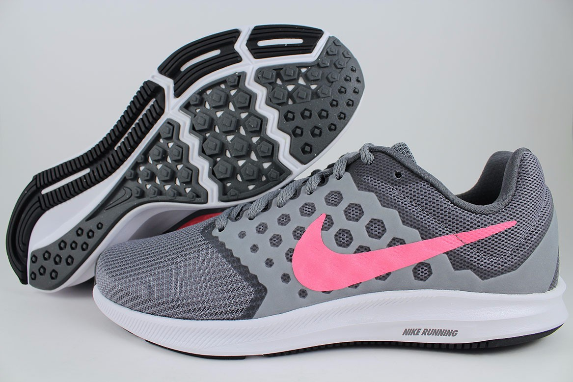 2e43bc56ccfd Details about NIKE DOWNSHIFTER 7 WIDE D COOL GRAY LAVA GLOW CORAL PINK  RUNNING US WOMEN SIZES