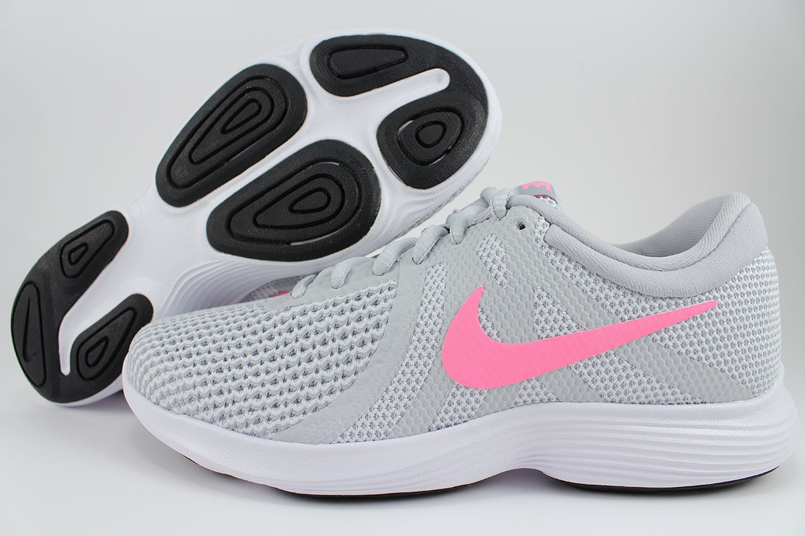 62116ef1375 Details about NIKE REVOLUTION 4 WIDE D PLATINUM SILVER PINK WHITE GRAY  RUNNING US WOMEN SIZES