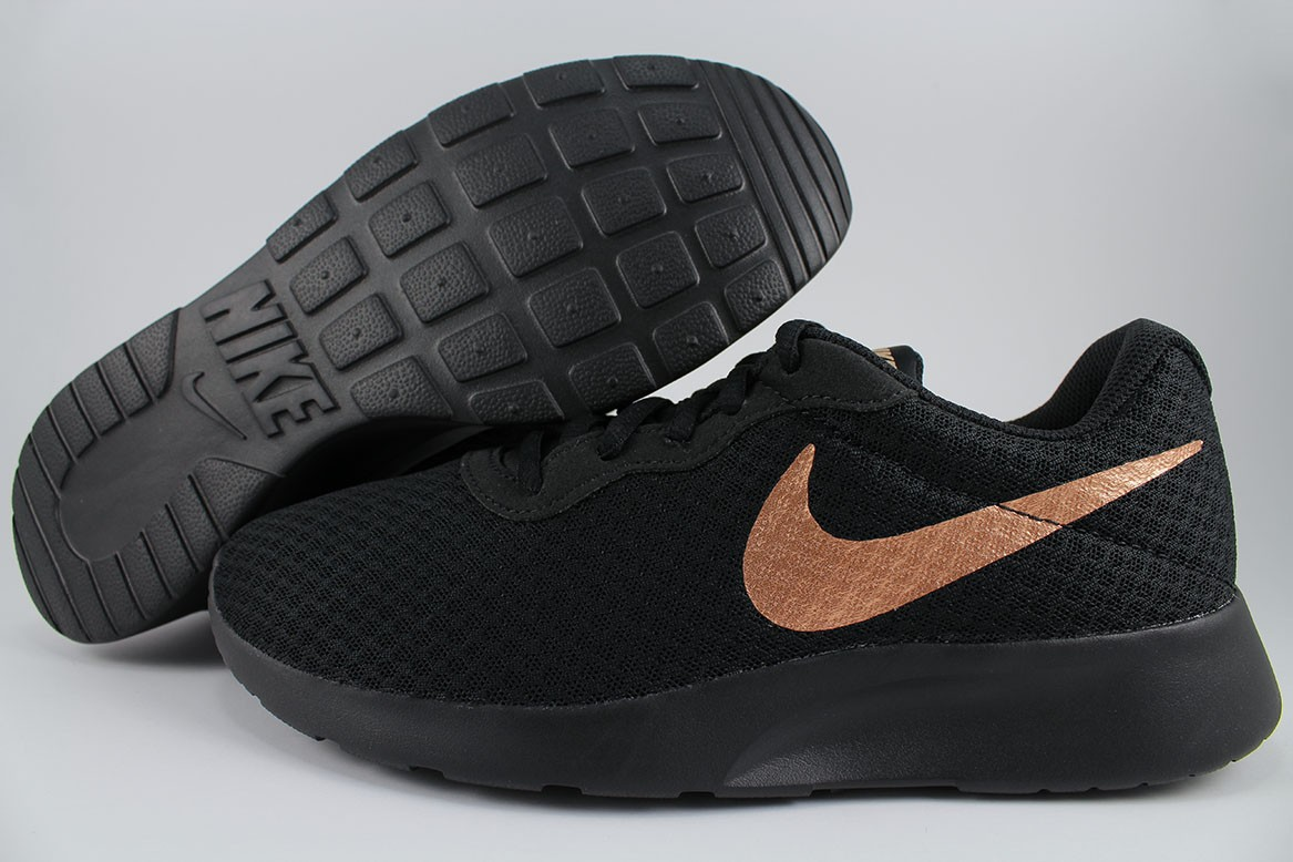 a42563ffbfbc Details about NIKE TANJUN BLACK RED BRONZE ROSE GOLD ROSHE ONE RUN TWO  RUNNING US WOMEN SIZE