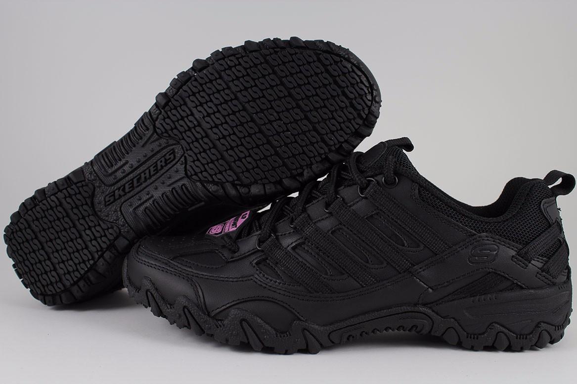 Skechers Compulsions Chant Wide Black Slip Resistant Non