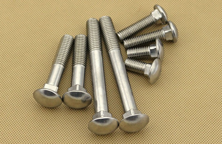 Screw 5PCS M8 304 Stainless Steel Metric Thread Carriage Bolt Coach Bolt Small Head Square Neck Screw Fastener Length: M8x35