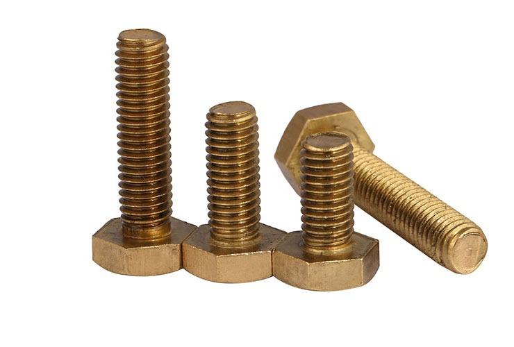 Solid Brass Hex Head Cap Screws Blots Brass Nuts M6 M8 FZ 10PCS