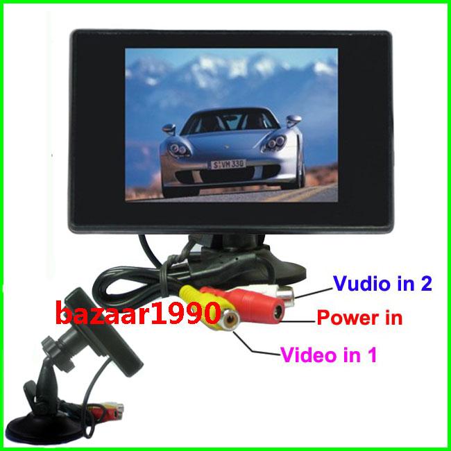 NEW 3.5 TFT LCD Digital Rearview Car Rear View Monitor